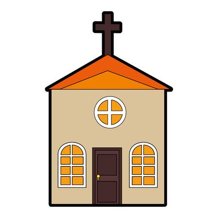 Icône de l'église sur illustration vectorielle fond blanc Banque d'images - 82562582