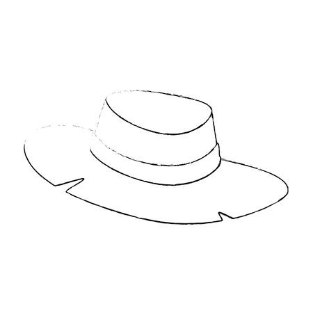 흰색 배경 벡터 일러스트 레이 션 위에 모자 아이콘