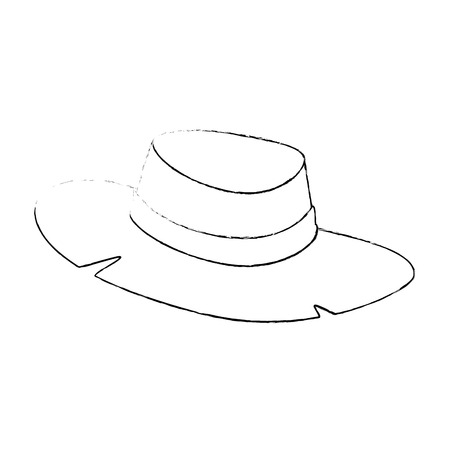 hat icon over white background vector illustration