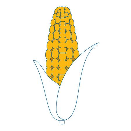 corn icon over white background vector illustration Illustration