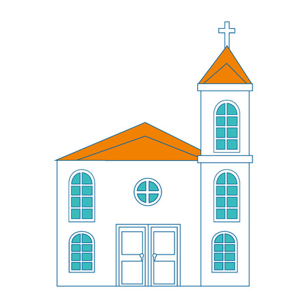 A church icon over white background vector illustration.