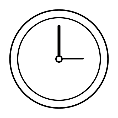 clock icon over white background vector illustration