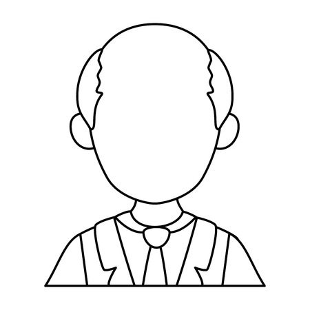 old man icon over white background vector illustration Stock Vector - 82575251