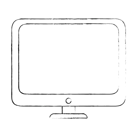 computer icon over white background vector illustration
