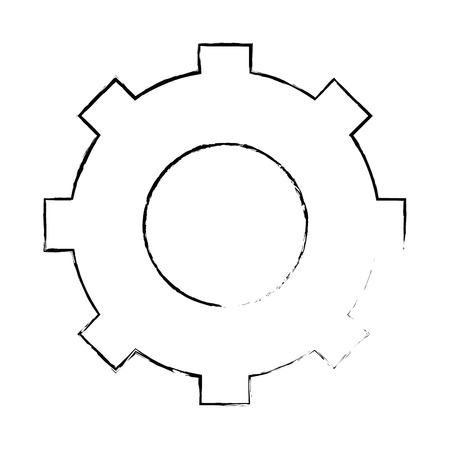 gear wheel icon over white background vector illustration Illustration