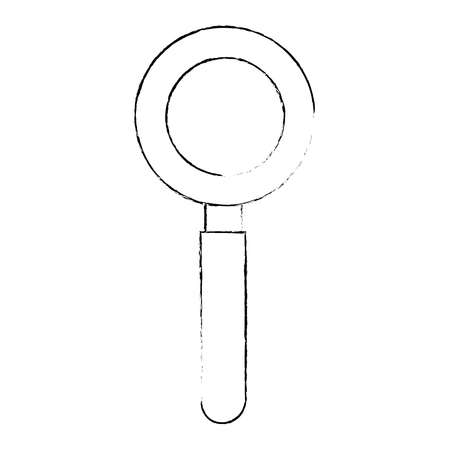 magnifying glass icon over white background vector illustration