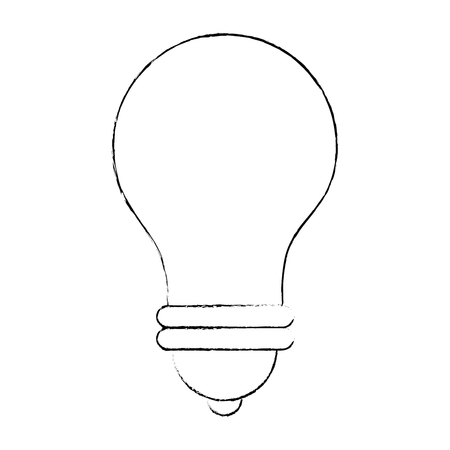 light bulb icon over white background vector illustration Imagens - 82575280