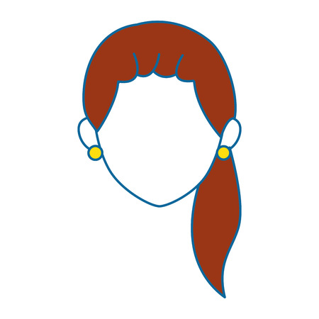 avatar woman icon over white background colorful design vector illustration