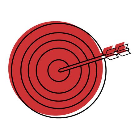 bow and arrow icon over white background vector illustration Ilustração
