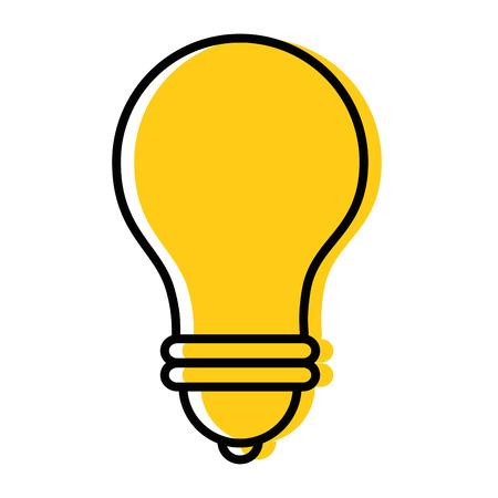 light bulb icon over white background vector illustration Ilustração