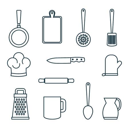 Hand gezeichnet Geschirr Geschirr über weißem Hintergrund Vektor illustraiton Standard-Bild - 82575510