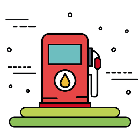 Gas pump over white background vector illustration