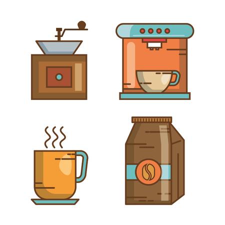 over witte achtergrond drankje vector illustratie pictogram