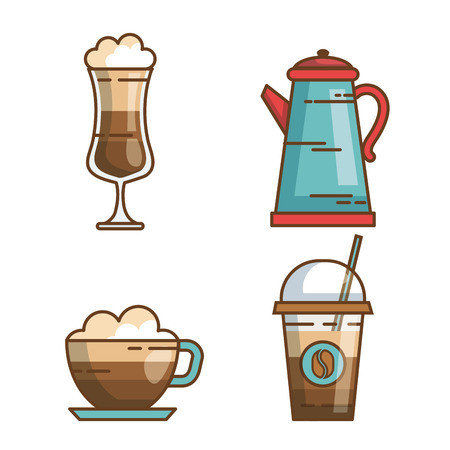 over white background drink vector illustration icon