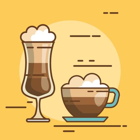 over witte achtergrond drink vector illustratie icoon
