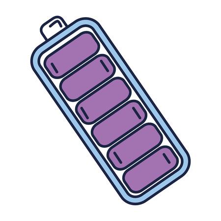 Batterie isoliert isoliert Symbol Vektor-Illustration , Design , Standard-Bild - 82575707