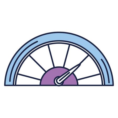 pressure gauge isolated icon vector illustration design Vektorové ilustrace