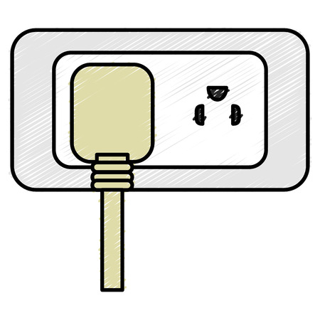 energy plug with socket vector illustration design