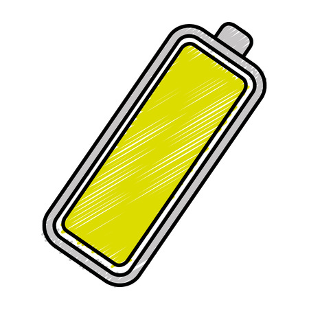 Batterie-Ebene isoliert Symbol Vektor-Illustration, Design, Standard-Bild - 82575825