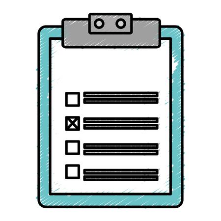 checklist: clipboard paper isolated icon vector illustration design Illustration