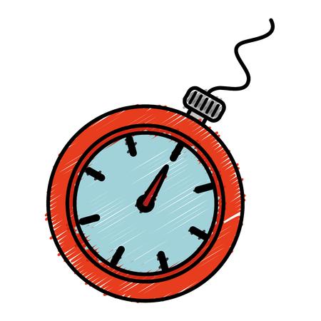 Cronometro cronometro isolato icona illustrazione vettoriale di progettazione Archivio Fotografico - 82575835