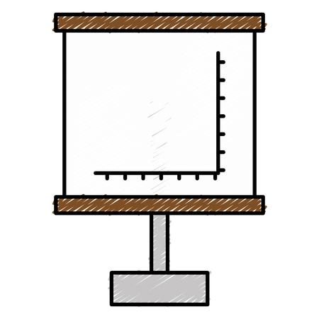 Flipchart with Cartesian plane vector illustration design