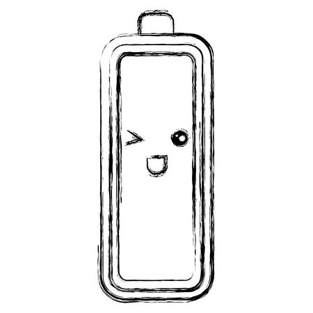 battery level character vector illustration design