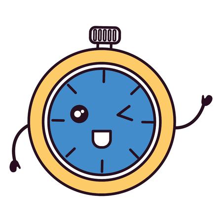 chronometer timer character vector illustration design