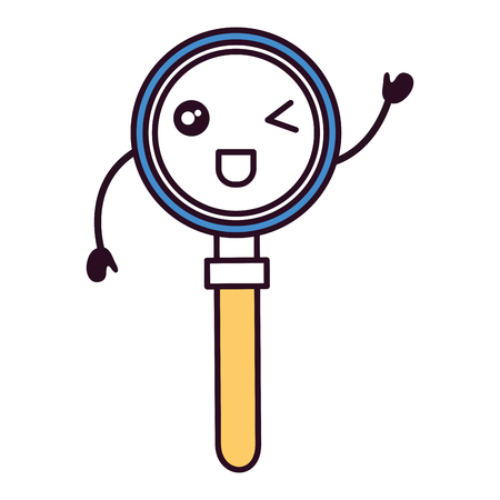 search magnifying glass character vector illustration design