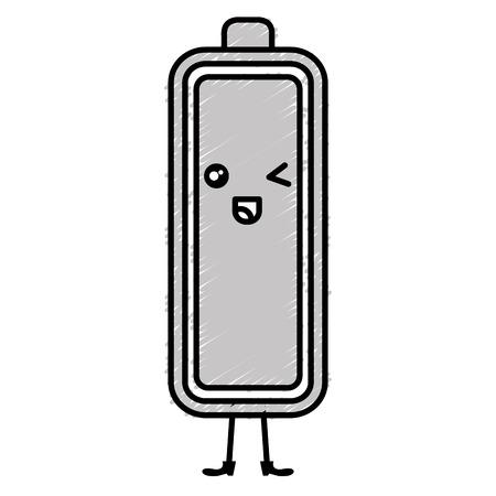 Batteriestatus-Zeichenvektor-Illustrationsdesign Standard-Bild - 82575857