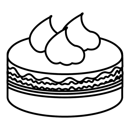 delicious cake celebration icon vector illustration design