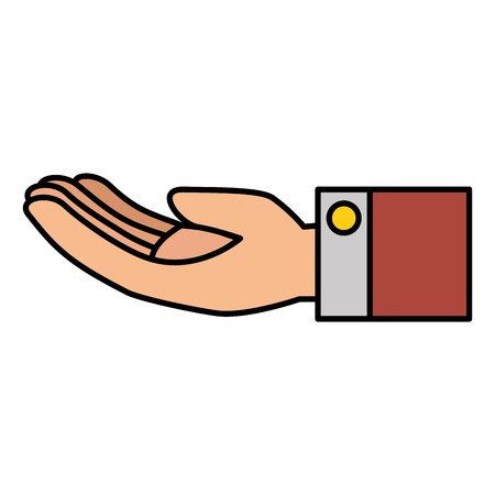 Main demandant isolé icône du design d & # 39 ; illustration vectorielle Banque d'images - 82578881