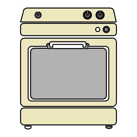 kitchen oven isolated icon vector illustration design Banco de Imagens - 82589211