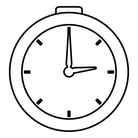 Cronometro cronometro isolato icona illustrazione vettoriale di progettazione Archivio Fotografico - 82589136
