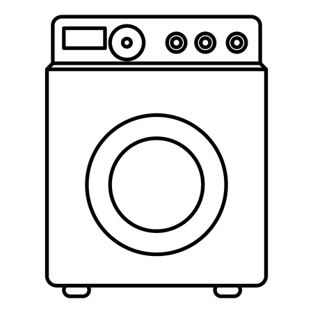 spinning: washer machine isolated icon vector illustration design