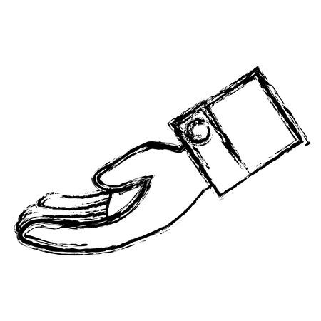Hand vraag geïsoleerde pictogram vector illustratie ontwerp Stock Illustratie
