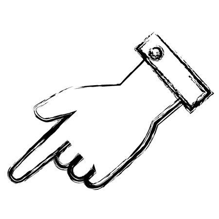 손 인간의 인덱스 격리 된 아이콘 벡터 일러스트 레이 션 디자인 스톡 콘텐츠 - 82579333