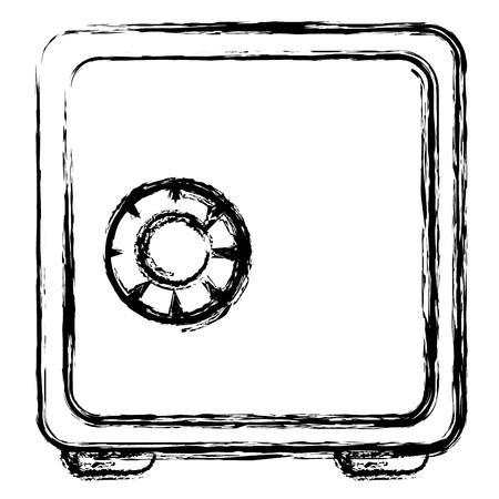 Caja de seguridad aislada icono vector ilustración diseño Foto de archivo - 82579613