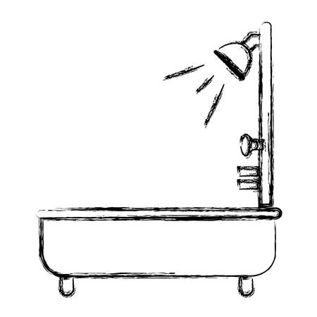 badkuip service geïsoleerd pictogram vector illustratie ontwerp