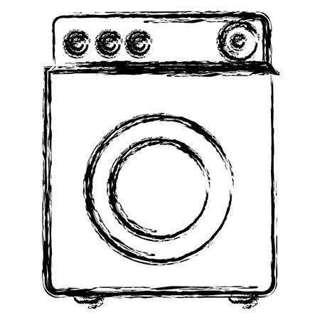 appliances: washer machine isolated icon vector illustration design