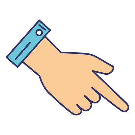 hand touch: hand human index isolated icon vector illustration design