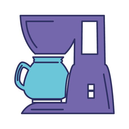 コーヒー マシンのアイコン ベクトル イラスト デザインを分離しました。