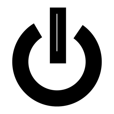 power switch button icon vector illustration design Çizim