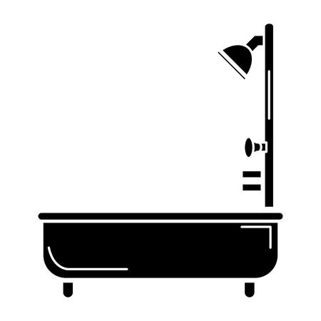 욕조 서비스 격리 된 아이콘 벡터 일러스트 디자인