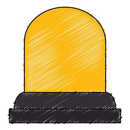 Alarma de luz aislados icono de ilustración vectorial de diseño Foto de archivo - 82589187