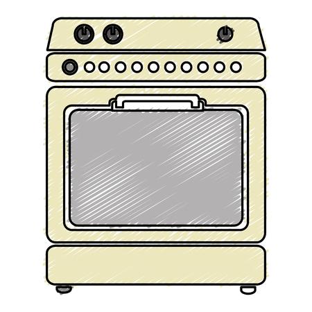 cuisine four isolé icône du design illustration vectorielle Vecteurs