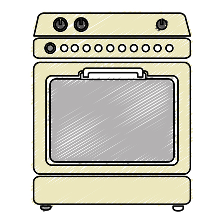 kitchen oven isolated icon vector illustration design Banco de Imagens - 82589199