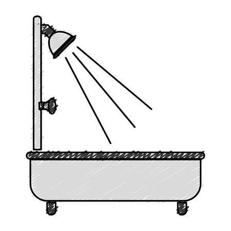 bathroom design: bathtub service isolated icon vector illustration design Illustration