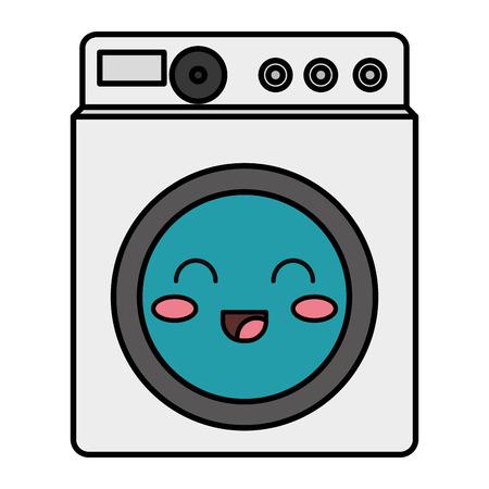 洗濯機カワイイ文字ベクトル イラスト デザイン