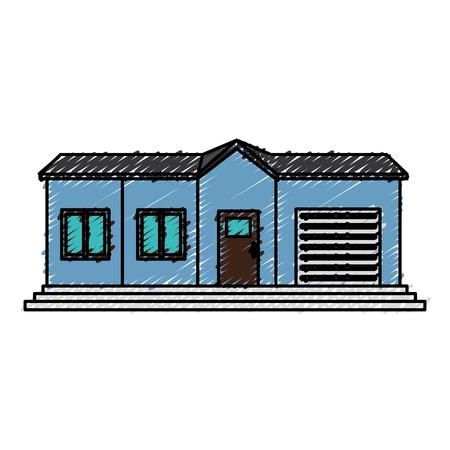 외관 집 고립 된 아이콘 벡터 일러스트 레이 션 디자인
